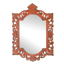 Mirrors For Wall Decor, Framed Square Unique Vintage Coral M