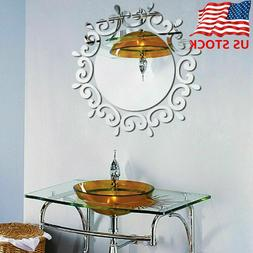 Modern 3D Mirror Wall Sticker Wall Art Decals Removable Home