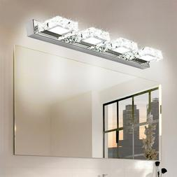 Modern Bathroom LED Crystal Mirror Front Make-up Wall Light