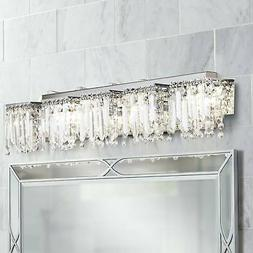 "Modern Wall Light Chrome 42 1/2"" Crystal Vanity Fixture for"