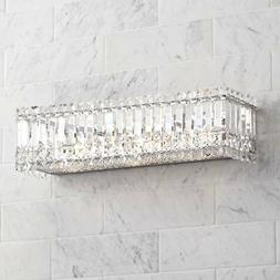 "Modern Wall Light Crystal Columns 23"" Vanity Fixture for Bat"
