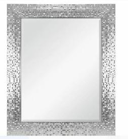Modern Wall Mirror Vanity Bathroom Glam Silver Finish Bedroo