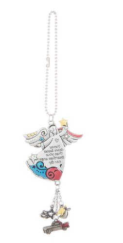 NEVER DRIVE FASTER ... Guardian Angel Ganz Car Charm & Chain