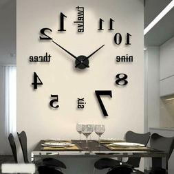 FASHION in THE CITY New 3D DIY Mirror Surface Wall Clocks Mo