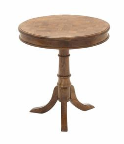 "NEW Deco 79 28721 Wood Accent Table, 24"" x 26"", Natural Colo"