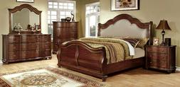 NEW Traditional Brown Bedroom Furniture - 5pcs Queen Fabric