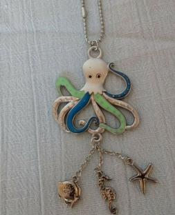 OCTOPUS Ganz Car Charm with Dangle Charms and Ball Chain for