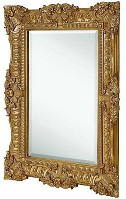Large Ornate Gold Baroque Frame Mirror Aged Luxury Elegant R