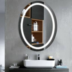 Oval LED Bathroom Wall Mount Mirror Illuminated Light Vanity