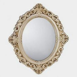 Oval Mirror Antique Style Entryway Bedroom or Bathroom Wall