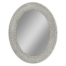 Oval Mirror Bedroom Bathroom Vanity Opal Tile he Mosaic Fram