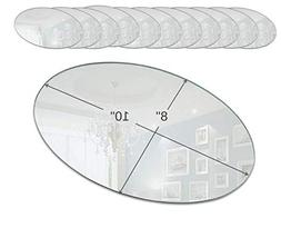 Light In The Dark Oval Mirror Tray Set - Set of 12 Oval Mirr