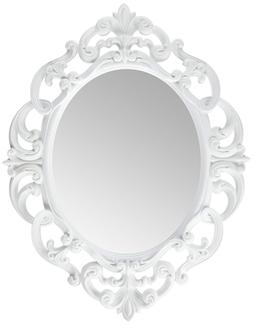 Oval Mirror White Decorations For Home Decor Bathroom, Hallw