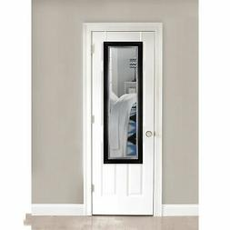 Over the Door Full Length Mirror, Black
