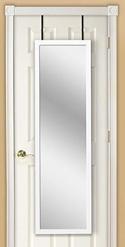 Over the Door Full Length Mirror, White