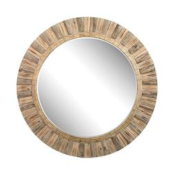 Lazy Susan 51-10163 Oversized Round Wicker Mirror