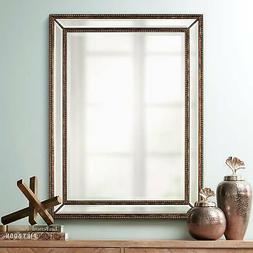 "Uttermost Palais Beaded 30"" x 40"" Bronze Wall Mirror"