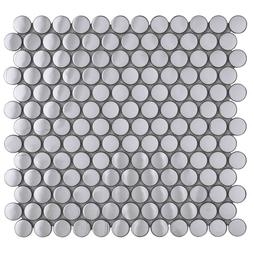 Penny Round Mirror Stainless Steel Metal Tile For Kitchen Ba