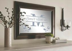 PERSONALIZED MIRROR XL LARGE WOOD OR ANTIQUE WALL MONOGRAM D