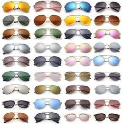 Polarized Aviator Sunglasses for Women Men Case Vintage Spor