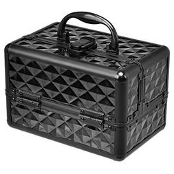 Giantex Portable Mini Makeup Train Case Professional Cosmeti