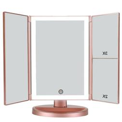 Portable Vanity Mirror Trifold Professional Makeup Travel Ma