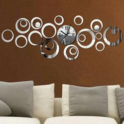 Quartz Wall Clock Large Decorative Clocks 3d Diy Acrylic Mir