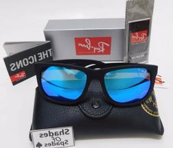 Ray-Ban Justin RB4165 622/55 54mm Matte Black Blue Mirror Po
