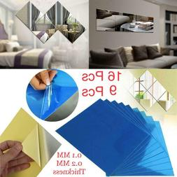 reflective decorative mirrors self adhesive tiles mirror