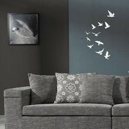 Removable Birds Mirror Wall Sticker Decal for Kids Baby Room