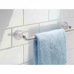 InterDesign Reo Metal Power Lock Suction Towel Bar Rack for