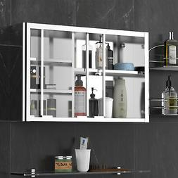 Restroom Floating Sturdy Toiletries Pantry with Side Shiftin