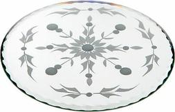Plymor Round 5mm Beveled Etched Glass Mirror, 6 inch x 6 inc