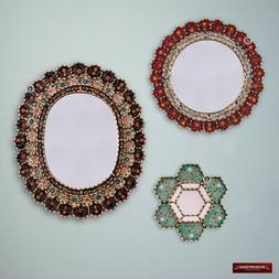 Round & Oval Mirror Set 3 for wall decor, Decorative Accent