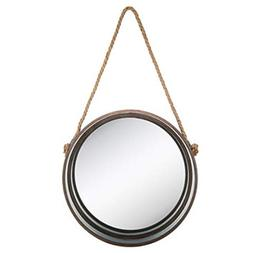 Round Galvanized Metal Wall Mirror