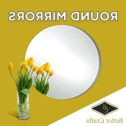 BETTER CRAFTS Round Glass Mirrors,Choose the Specific size a