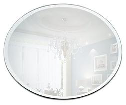 12 Inch Round Mirror Candle Plate with Bevelled Edge set of