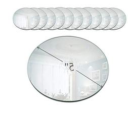 Light In The Dark 5 Inch Round Mirror Candle Plate with Beve