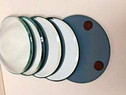 """Round Mirror  with shapes ...center pieces ....3"""" diametre /"""