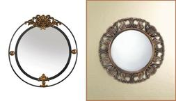 Round Mirrors For Wall Decor Glam Vanity Hanging Bedroom Liv