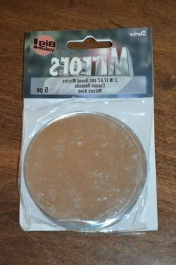 "Round Mirrors - pack of 5 - 3"" Diameter Round"