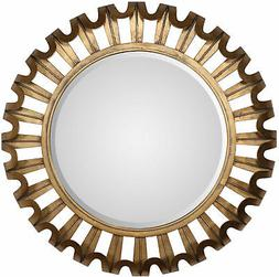 Brayden Studio Round Textured Wall Mirror
