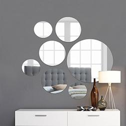 Light In The Dark Round Wall Mirror Mounted Assorted Sizes,1