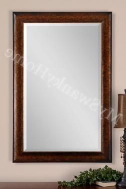 "Extra Large 58"" RUSTIC BRONZE Wall Mirror"