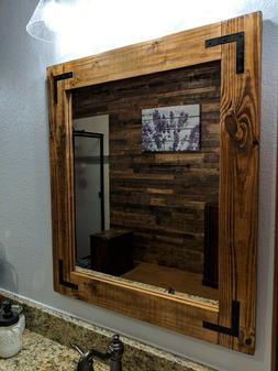 Rustic Farmhouse country vintage barn wood vanity bathroom m