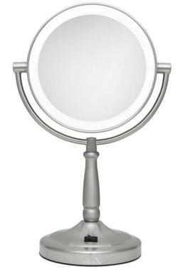satin nickel makeup mirror 10x magnification dual