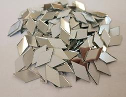 Set Of 200pcs RUIXUAN Diamond Shape Mosaic Tiles Mirror Glas