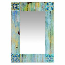 shabby chic country mosaic rectangle wall mirror