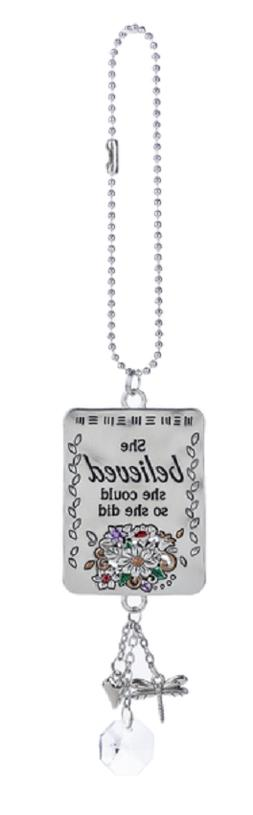 SHE BELIEVED SHE COULD SO SHE DID Ganz Car Charm & Chain for