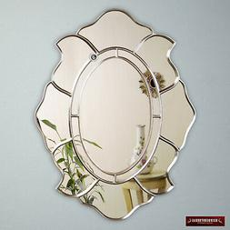 Silver Oval Accent Wall Mirror from Peru, Decorative Oval Mi